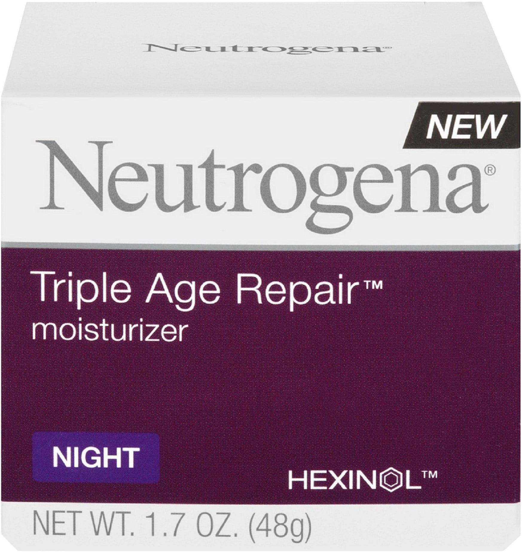 Neutrogena Triple Age Repair Night Moisturizer, 1.7 oz (Pack of 2)