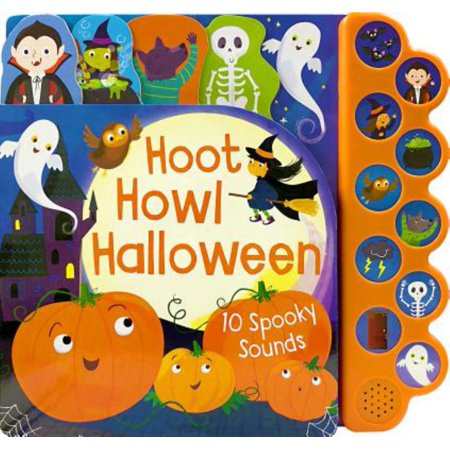 Hoot Howl Halloween: 10 Spooky Sounds (Board Book) (Halloween Sounds Of The Night)