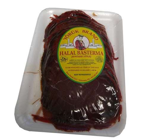 Basterma-Cured Dried Beef SLICED (Yoruk) approx. 0.5 lb