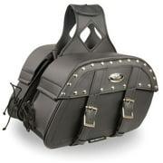 Milwaukee Medium Zip-Off PVC Studded Throw Over Saddle Bag