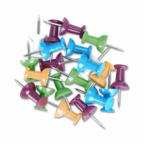 Universal Colored Push Pins, 100/Pack (Set of 6)