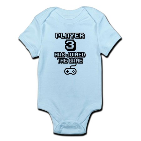 CafePress - Player 3 Has Joined The Game Funny Body Suit - Baby Light - Body Three Light