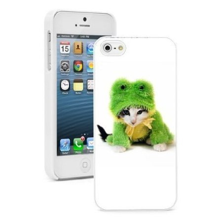 Apple iPhone 6 6s Hard Color Back Case Cover Protector Cute Kitten in Frog Costume (White) (Kitten Costumes)