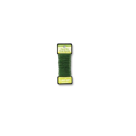 26-Gauge Paddle Wire, 270-Feet, Green, Product comes in green color By FloraCraft
