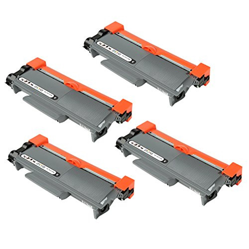 Compatible Cartridges for Brother TN660 Toner Cartridge, High-Capacity Black, 4-Pack