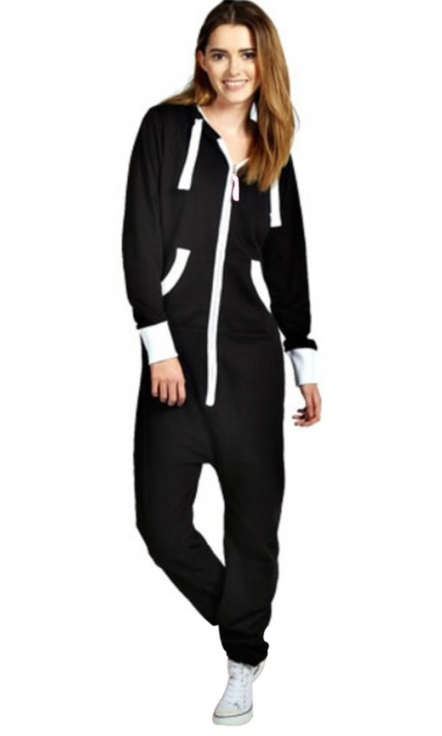 e9efe23546c Skylinewears - SkylineWears Women s Ladies Onesie Hoodie Jumpsuit Playsuit  Dark Purple Large - Walmart.com