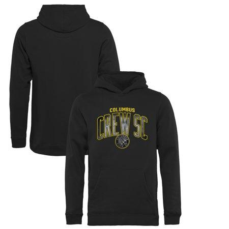 Columbus Crew SC Fanatics Branded Youth Arch Smoke Pullover Hoodie - Black Double Arch Crew Sweatshirt