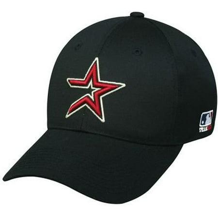 Houston Astros MLB Throwback Retro Hat Cap Black / Red Star Adult Men's Adjustable