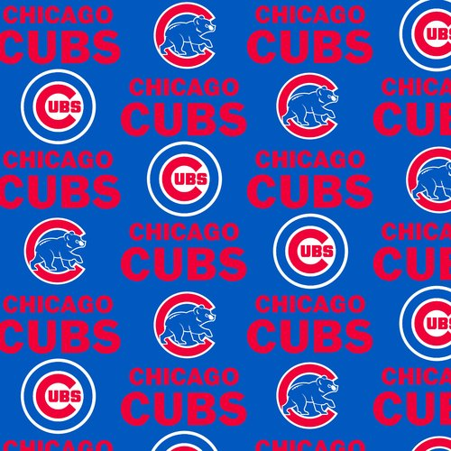 MLB Chicago Cubs Fleece Fabric