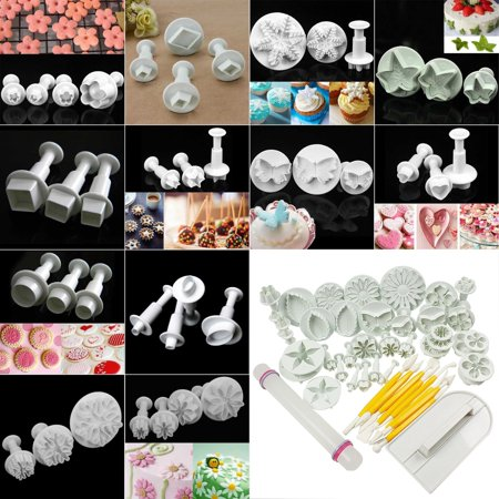 CUH Cake Mold Cookie Fondant Plunger Cutter Pastry Sugarcraft Decorating Mould Kit Brand New and High Quality