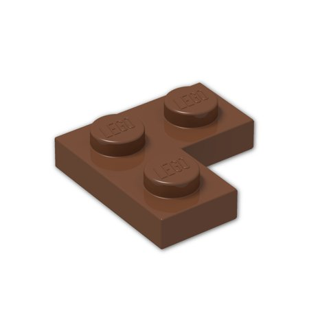 Brick Building Sets Original Lego Parts: Plate 2 x 2 Corner (2420 - Pack of 8) (Reddish Brown)