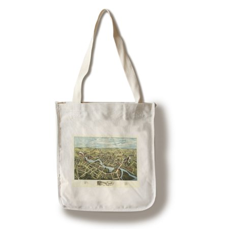 Putnam, Connecticut - Panoramic Map (100% Cotton Tote Bag - - Putnam Den Halloween