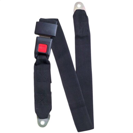 2017 Hot Sale Black Car Seat Belt Lap Belt Two Point Adjustable Safety Universal