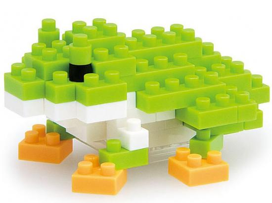 Nanoblock Micro-Sized Building Block Japanese Tree Frog Figure Set by