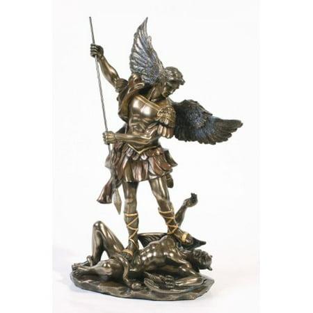 Saint Michael Archangel Statue With Spear St Michael San Miguel Arcangel Desktop -