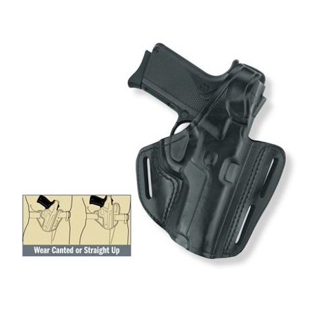 Gould & Goodrich Three Slot Pancake Holster, Black, Left Hand - Ruger 4in BBL &