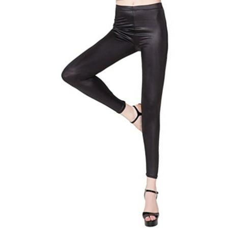 SAYFUT Winter Warm Leggings for Women Beaver Velvet Faux Leather Leggings Tight Trousers Pants