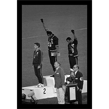 FRAMED Mexico Olympics 1968 Black Power Salute 18x12 Tommie Smith John Carlos Historic Art Print