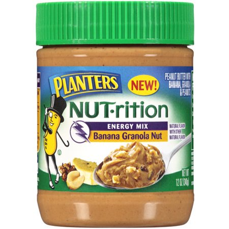 Planters Nut-Rition Energy Mix Banana Granola Nut Peanut Butter, 12 oz ...