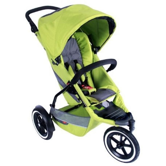 PHIL&TEDS phil Explorer Inline Buggy Jogging Stroller - All Apple
