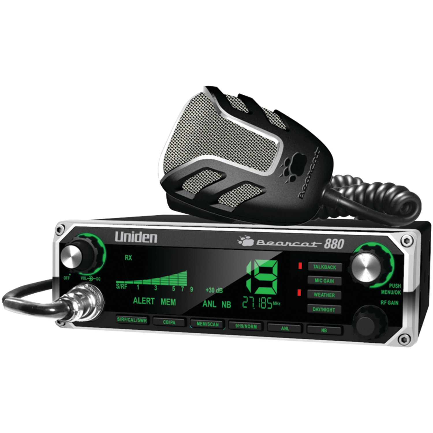 Uniden BEARCAT 880 40-Channel Bearcat 880 CB Radio with 7-Color Display Backlighting