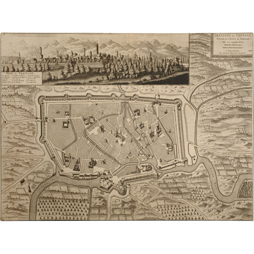 Trademark Art 'Map of Treviso, 1704' Canvas Art by Pierre Mortier
