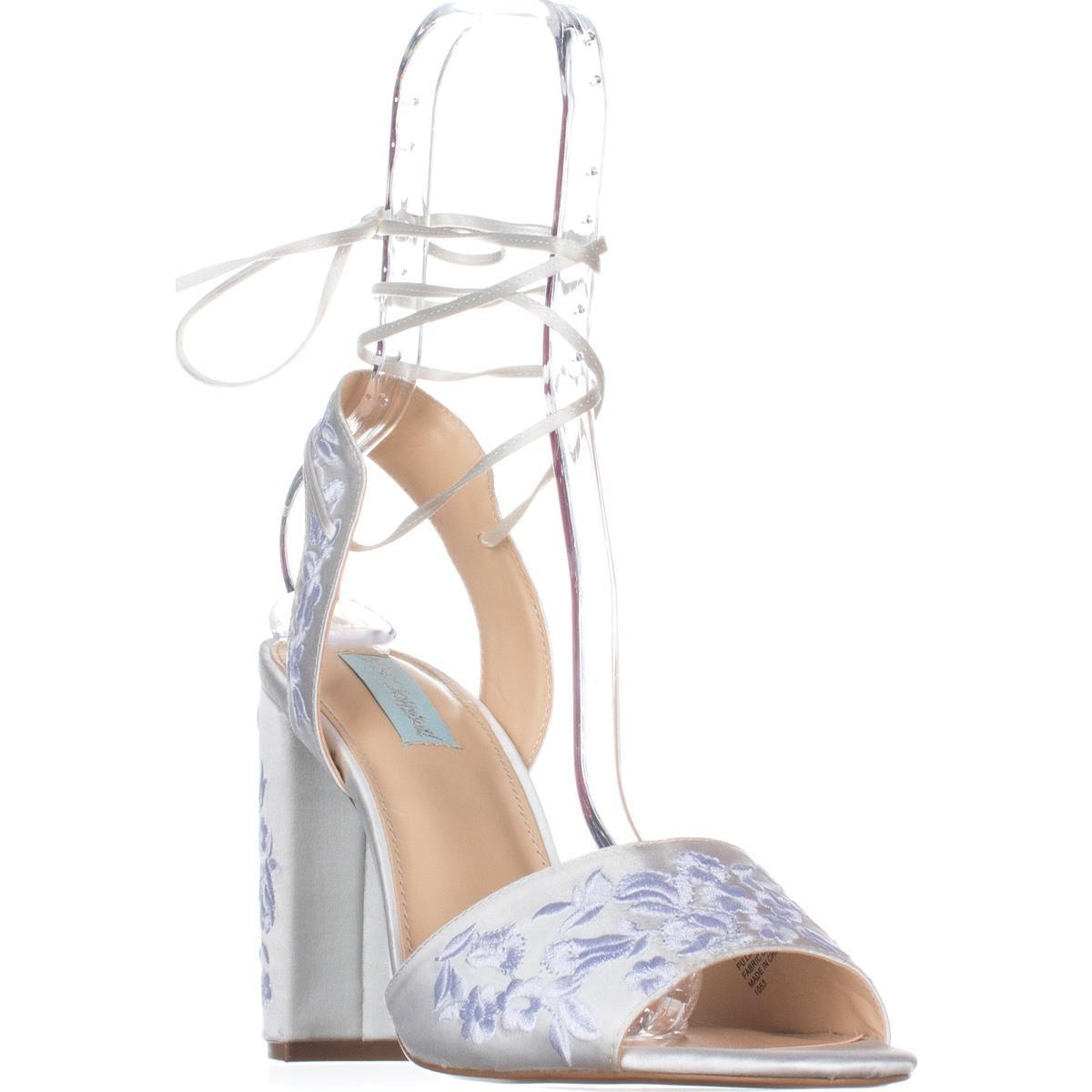 Womens Blue by Betsey Johnson Raine Dress Sandals, Ivory