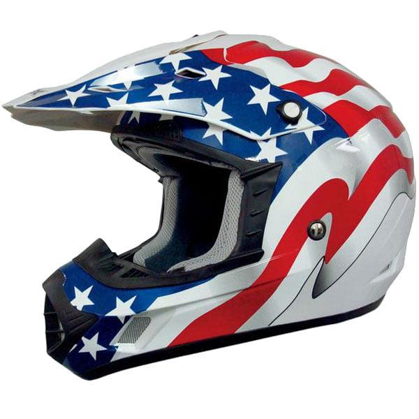 AFX FX-17 Flag MX Helmet Freedom White