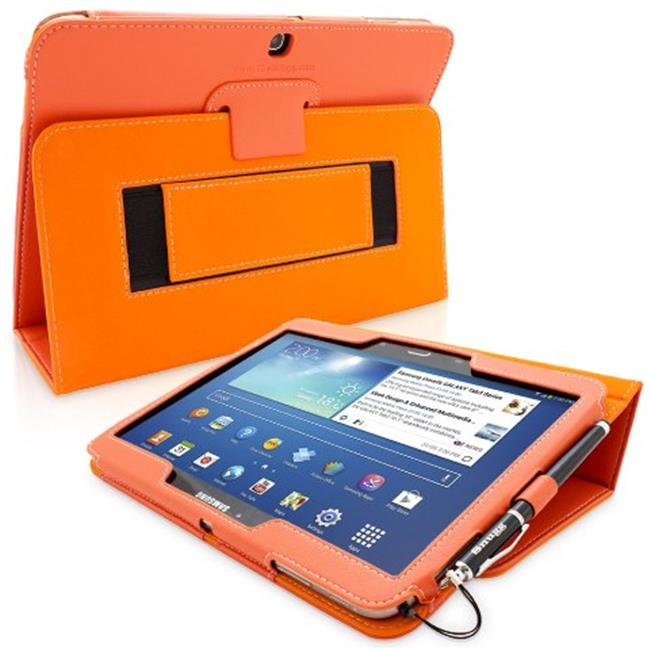 Snugg B00EQ6QYK4 Galaxy Tab 3 10. 1 Case Cover and Flip Stand, Orange Leather