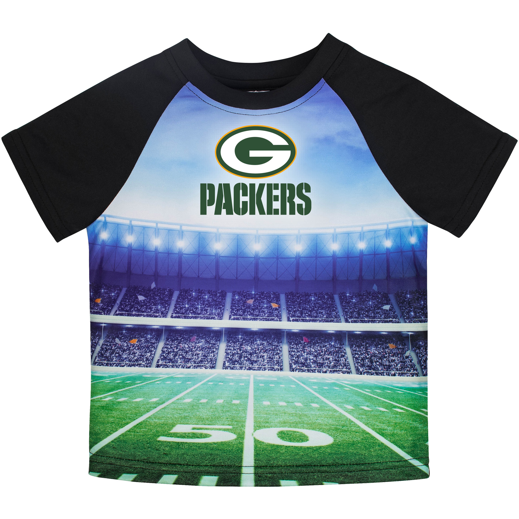 Toddler Gerber Black Green Bay Packers Stadium T-Shirt
