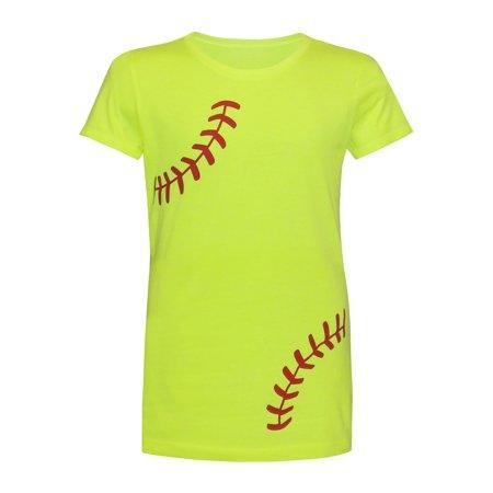 Zone Apparel Softball Girl's Youth Softball T-Shirt - Laces - Medium - Zoe Clothes