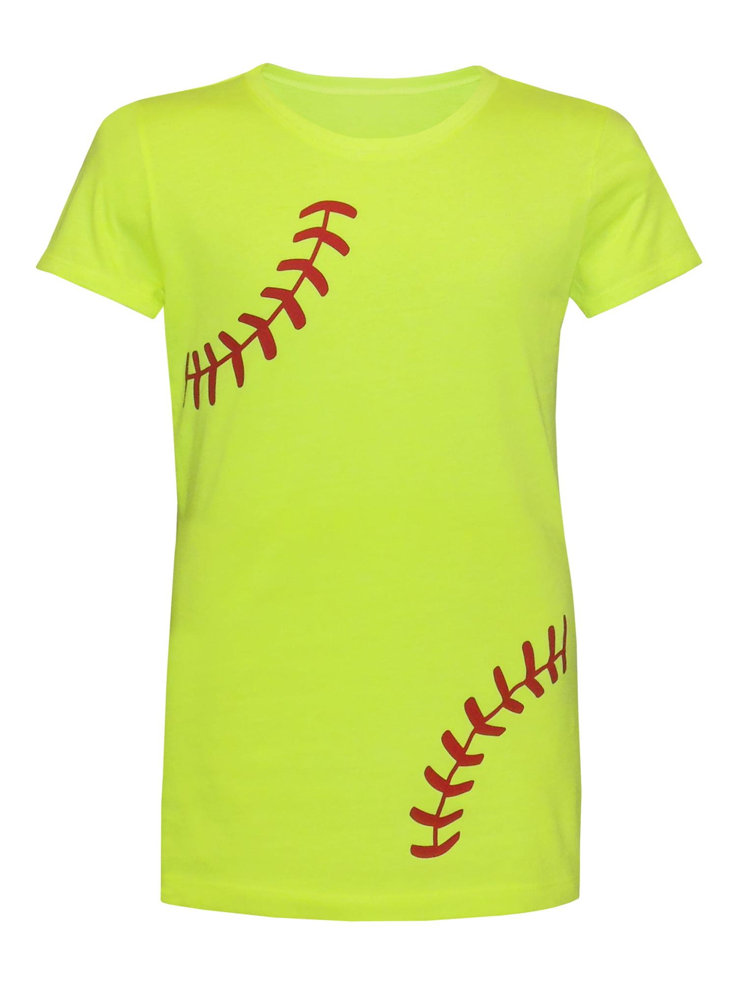 Zone Apparel Softball Girl's Youth Softball T-Shirt - Laces - Medium
