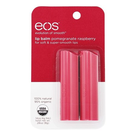 eos Evolution of Smooth Lip Balm Stick Pomegranate Raspberry, 2 Ea, 2 Pack