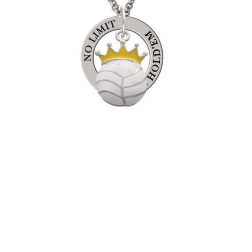 Volleyball - Crown Texas Hold'em Affirmation Ring Necklace