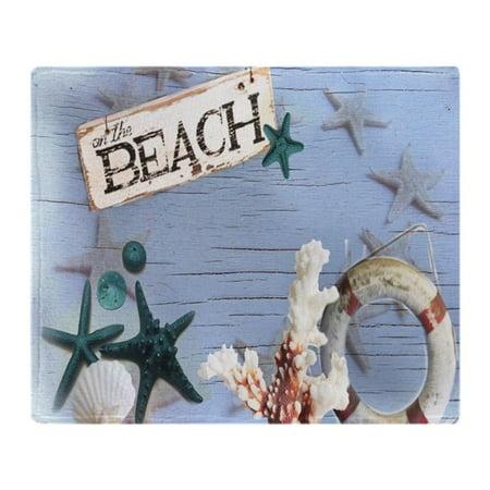 CafePress - Nautical Seashells Beach Fashion - Soft Fleece Throw Blanket, 50