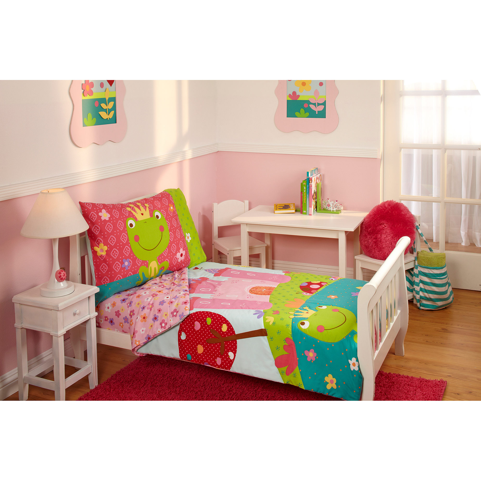 Everything Kids Fairytale 3-Piece Toddler Bedding Set with BONUS Matching Pillow Case