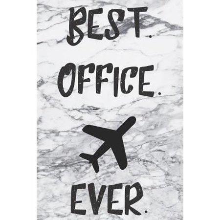 Best Office Ever: Blank Lined Notebook For Flight Attendants (Best Flight Attendant Shoes)