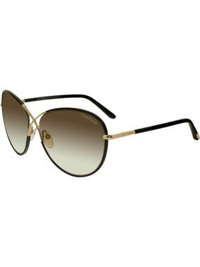 f8ff68f6d7e Product Image Tom Ford Women s Gradient Rosie FT0344-01B-62 Black Gold  Butterfly Sunglasses
