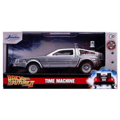 Back to the Future 2 Time Machine Hollywood Rides Jada Diecast 1:32 Scale Scale Diecast Battle Machines
