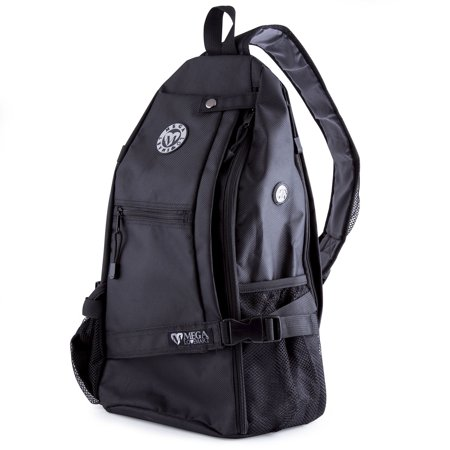 Crossbody Sling Yoga Backpack Good For Gym, Beach, Travel & Hiking - (Brown Mens Backpack)