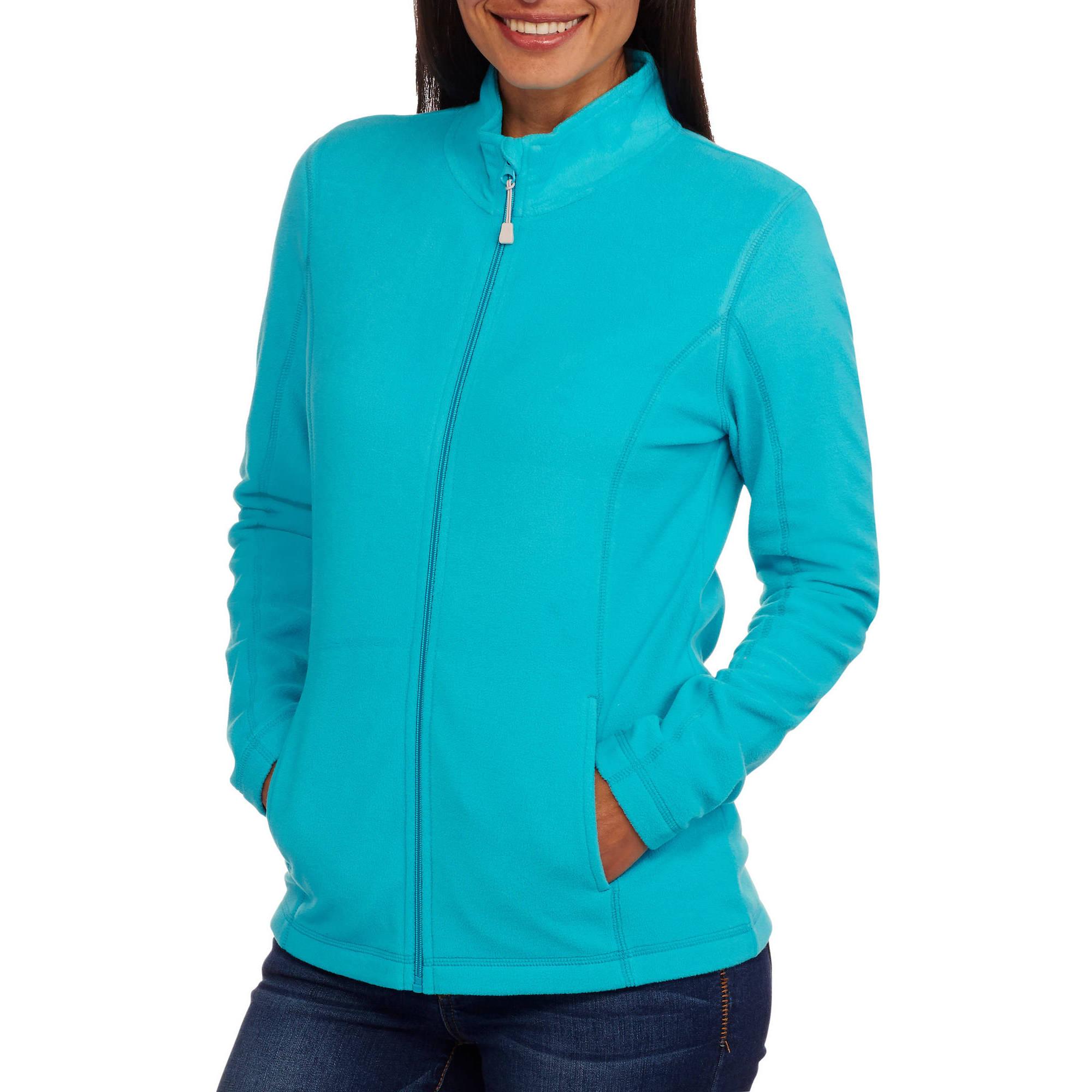 Athletic Works Women's Mockneck Full Zip Microfleece Jacket