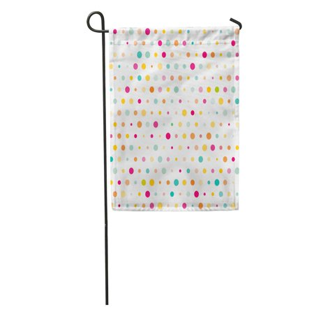 JSDART Dot Colorful Dotted Polka Pattern Cute White Vintage Garden Flag Decorative Flag House Banner 28x40 inch - image 1 of 2