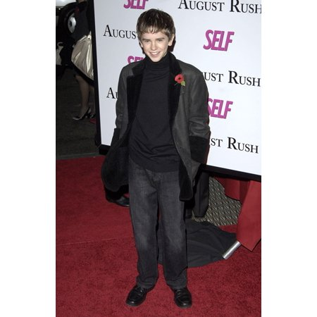 Freddie Highmore At Arrivals For August Rush Premiere Ziegfeld Theatre New York Ny November 11 2007 Photo By Patrick CallahanEverett Collection (Did Freddie Highmore Play In August Rush)