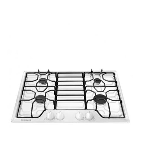 "Frigidaire FFGC3010QW 30"" Gas Cooktop with 5000-15 000 BTU 4 Sealed Burners Continuous Corner-to-Corner Grates"