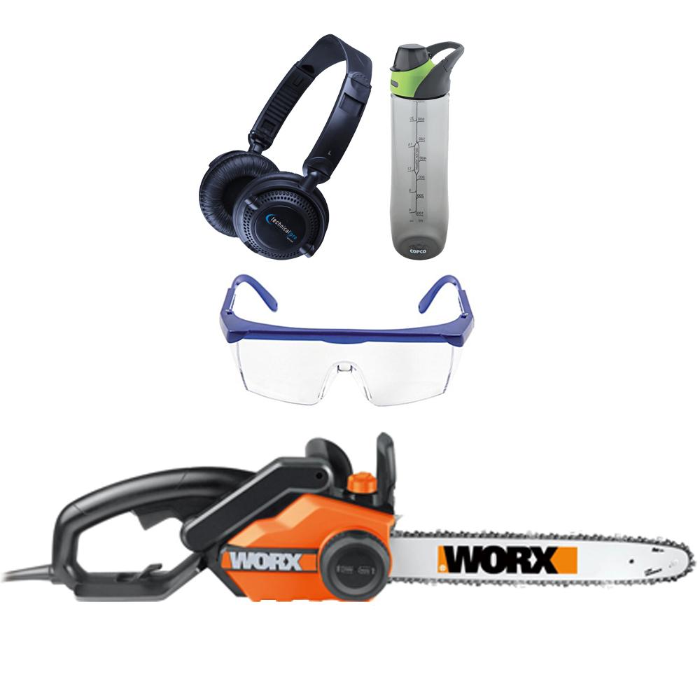Worx WG303 16 inch Electric Chain Saw - 14. 5 Amp