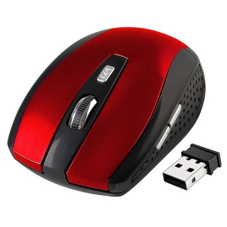 Insten 2.4G Cordless Wireless Optical Mouse with 800 1200 1600 DPI for laptop, chromebook, computer,
