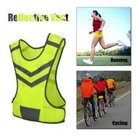 YLSHRF Fluorescent Vest,Sport Vest,High Visibility Adjustable Reflective Safety Vest for Outdoor Sports Cycling Running Hiking