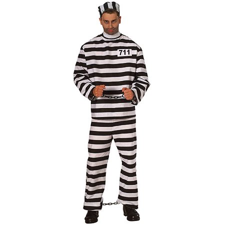Prisoner Man Adult Halloween Costume - Fat Guy Halloween Costumes Ideas