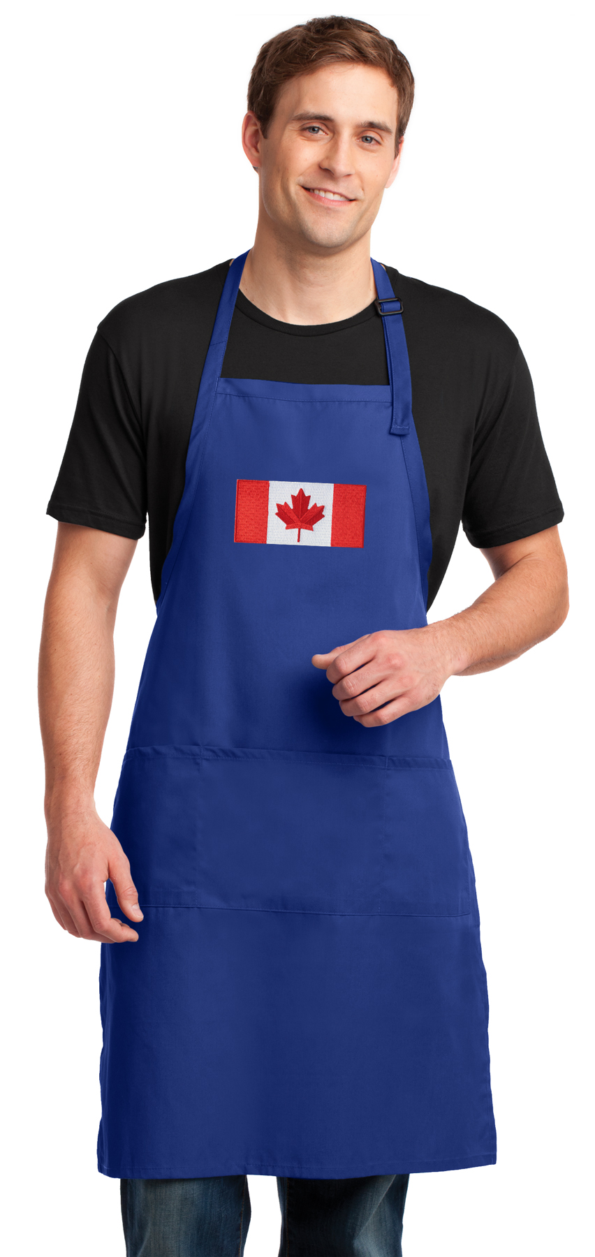 Large Canada Flag Apron Deluxe Canadian Flag Aprons for Women or Men