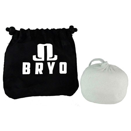 Refillable 3 oz Chalk Ball Sock - Magnesium Carbonate - with No-Mess Storage Bag to dry hands and increase grip for all exercises and athletics - weightlifting, Crossfit, gymnastics, rock (Impact Chalk Bag)